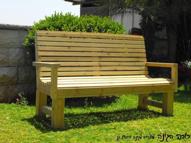 ספסל ישיבה מעץ דגם איתי